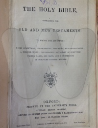Alice's bible from her father